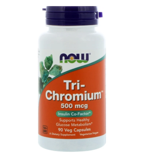 Now Foods, Tri-Chromium, 500 мкг, 90 вегетарианских капсул