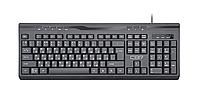 Клавиатура CBR KB 335HM USB, 104+8 кл., мультимедиа, USB-хаб, ABS-пластик, черный