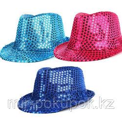 Шляпа карнавальная блестящая с пайетками