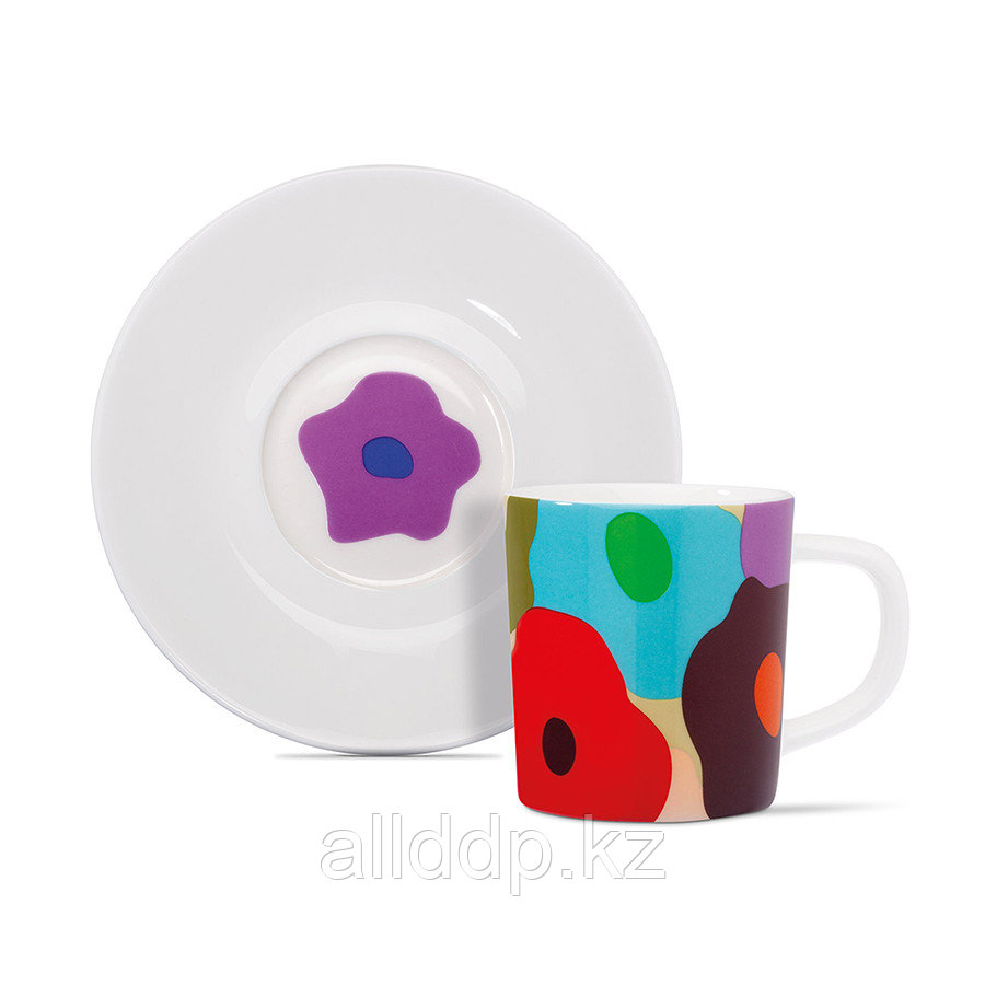 Чашка для эспрессо с блюдцем Remember, Fiori, 75 мл