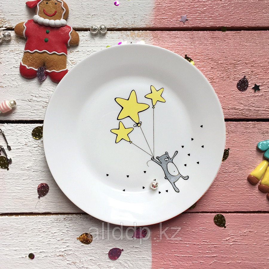 Тарелка «Звёздный мишка» 20 см фарфор