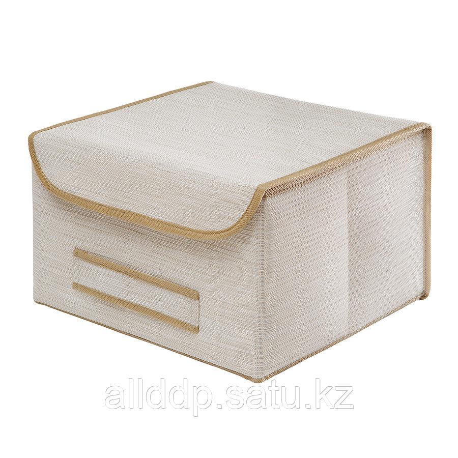 Коробка для хранения с крышкой бежевая BO-043