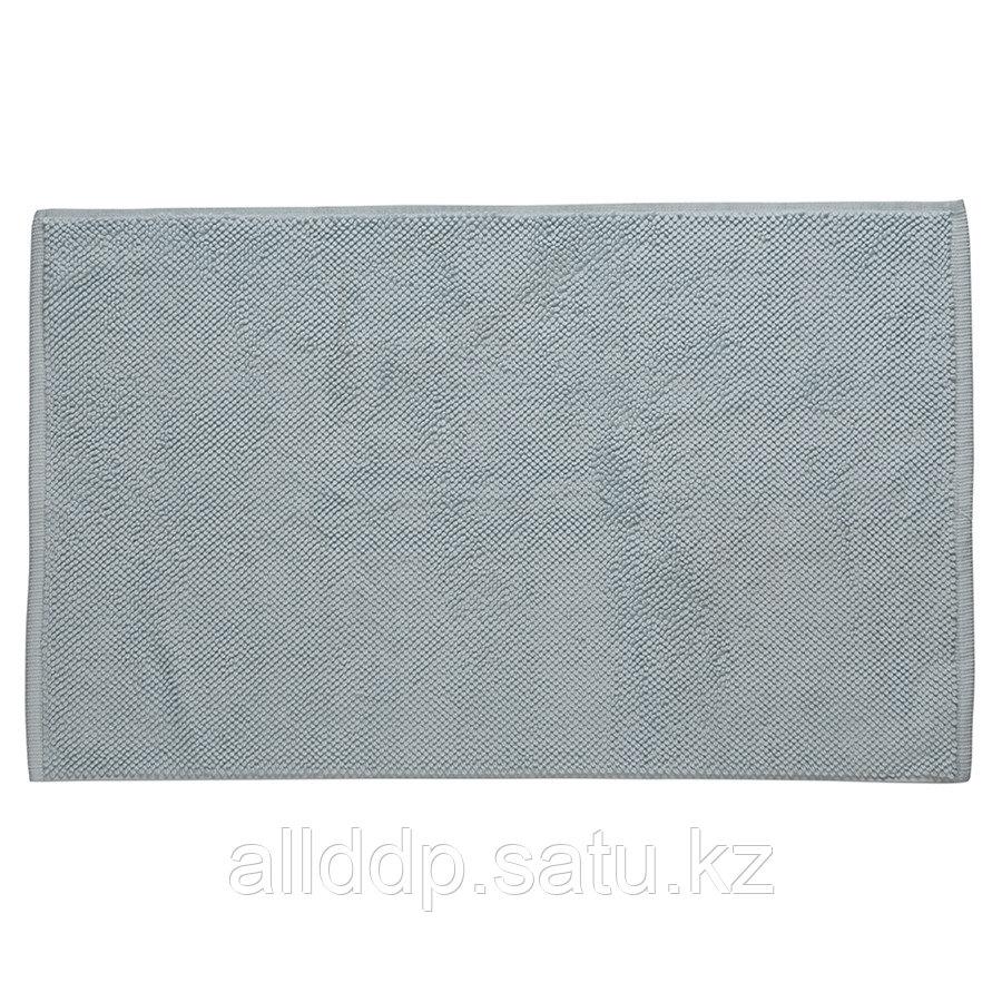 Коврик для ванной ворсовый из чесаного хлопка голубого цвета из коллекции Essential, 50х80 см