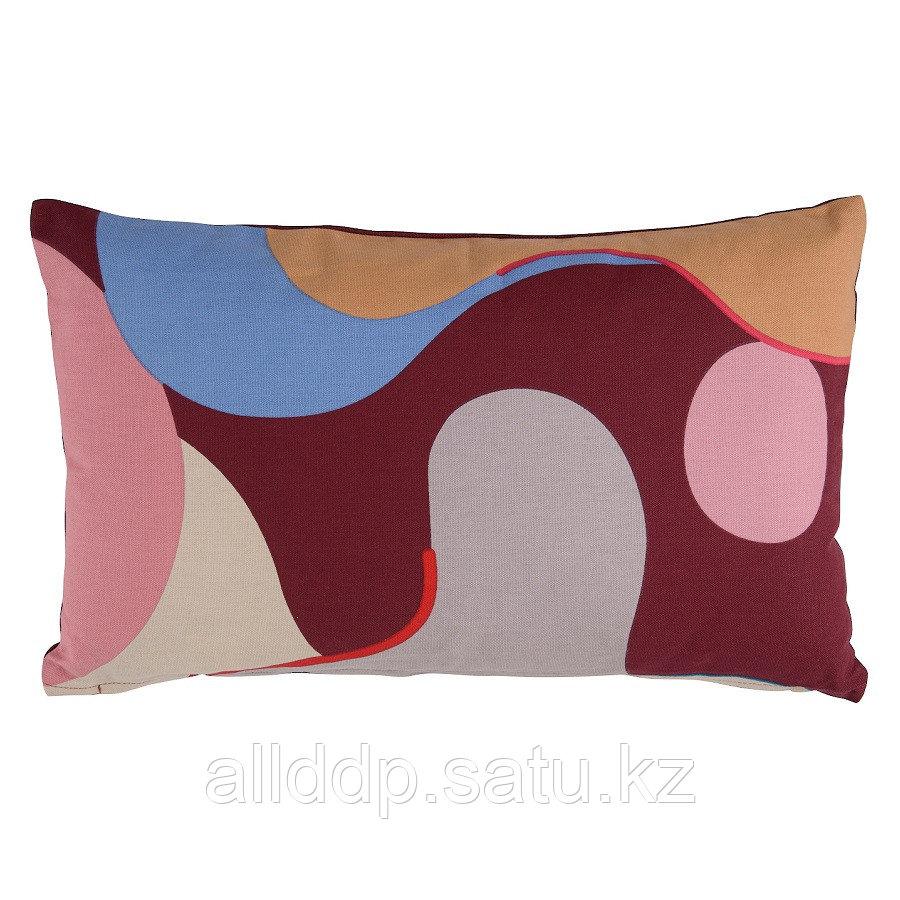 Подушка декоративная из хлопка с авторским принтом из коллекции Freak Fruit, 30х50 см