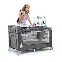 Кроватка-манеж 2в1 JOY Blue (Kinderkraft, Германия)