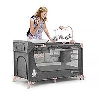 Кроватка-манеж 2в1 JOY Pink (Kinderkraft, Германия)