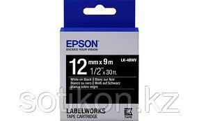 Лента Epson C53S654009 LK-4BWV9 Яркая лента 12мм, Черн./Бел., 9м