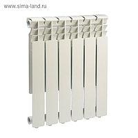 Радиатор алюминиевый REMSAN Master, 500х80 мм, 6 секции