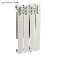 Радиатор алюминиевый REMSAN Master, 500х80 мм, 4 секции