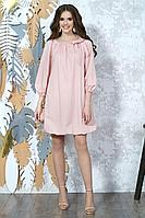 Женское осеннее розовое платье Alani Collection 1361 44р.