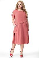 Женское летнее розовое большого размера платье Algranda by Новелла Шарм А3696-9-3 58р.