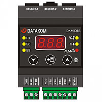 Контроллер температуры и влажности с дисплеем и релейными выходами Datakom DKM-046