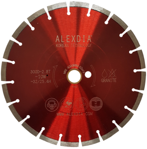 Сегментный диск по граниту (laser) красный 150мм