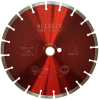 Сегментный диск по граниту (laser) красный 230мм