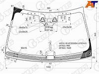 Стекло лобовое + дд + 3 камеры c обогревом щеток MERCEDES-BENZ S CLASS W222 4D SED 17-20