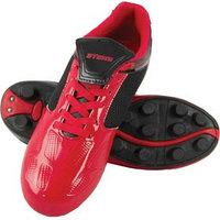 Футбольные бутсы, цвет красно-чёрный, синтетическая кожа, размер 41