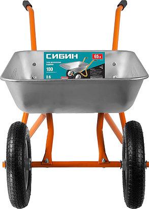 Тачка садовая двухколесная СИБИН 100 кг, 65 л, СТ-21 (39909_z01), фото 2