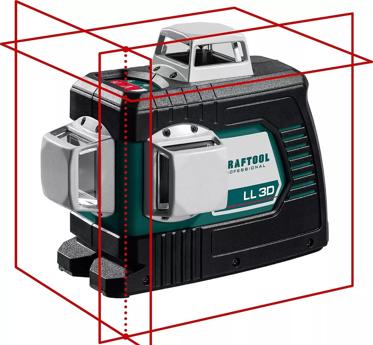 Нивелир лазерный KRAFTOOL в коробке, LL 3D (34640_z01)