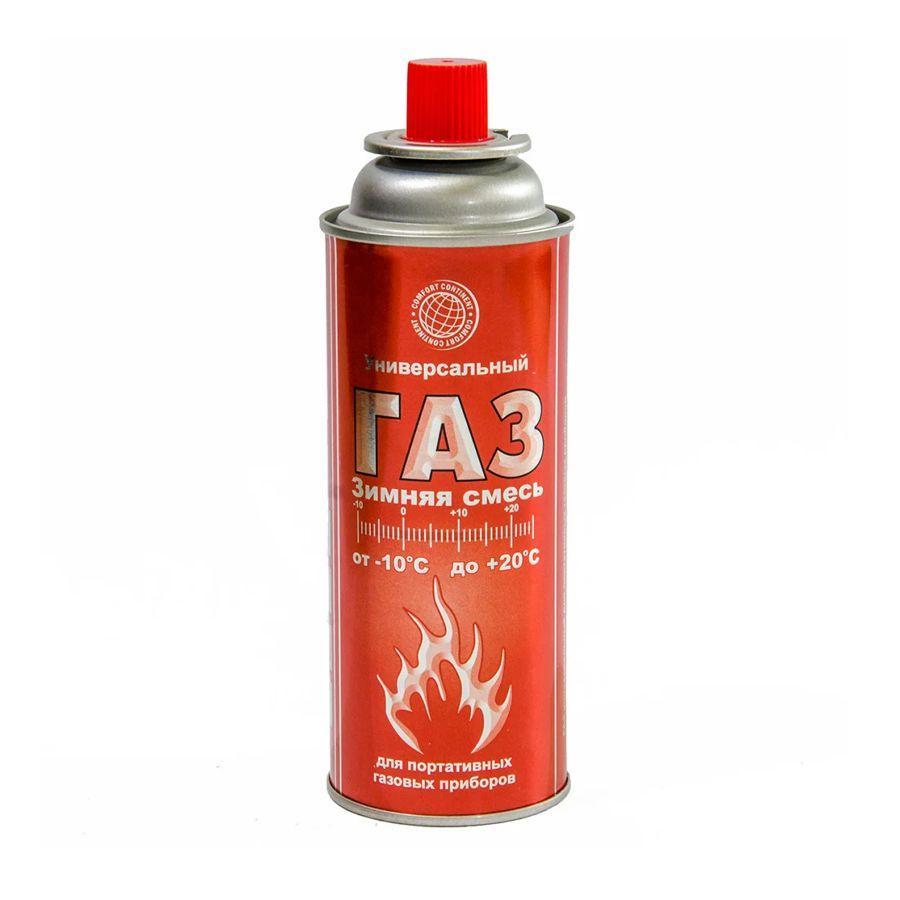 Газ в баллонах для горелок 220гр Comfort Continent