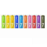 Батарейки Xiaomi ZMI ZI7 Rainbow AAA, 1.5V (24 шт) оригинал. Арт 6591, фото 2