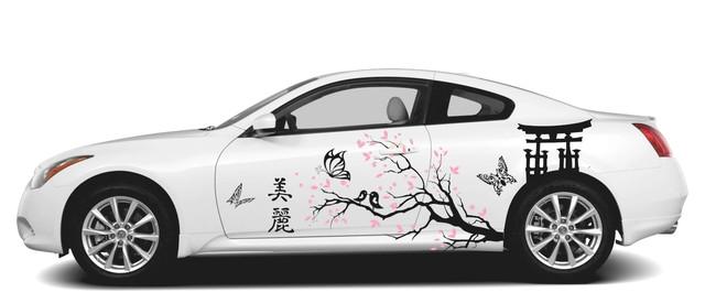 наклейка на авто японский