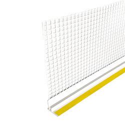 Профиль примыкающий оконный с сеткой ПС-6С с пыльником