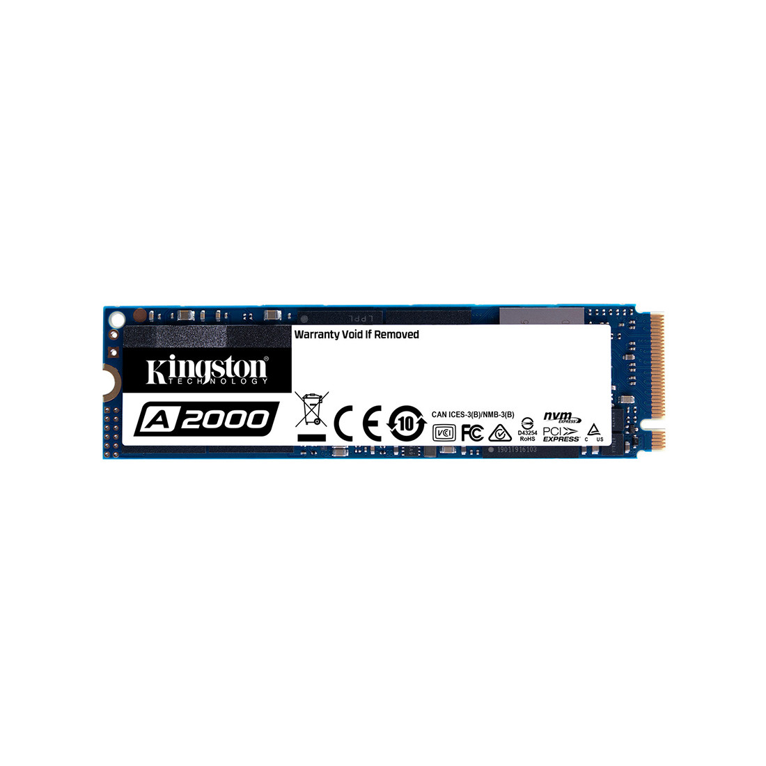 Твердотельный накопитель SSD, Kingston, SA2000M8/1000G, 1000 GB, M.2 NVMe PCIe 3.0x4