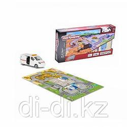 Dickie Toys Игровой коврик Creatix Construction  +  1 die-cast машинка  Majorette 2056412