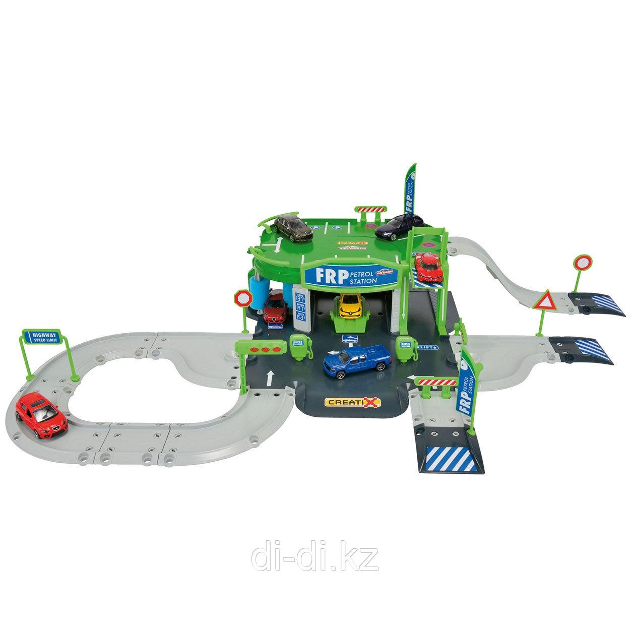Dickie Toys Игровой набор Заправочная станция Creatix +  1 die-cast машинка Majorette 2050010