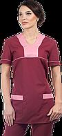 Блуза женская Simple бордовый