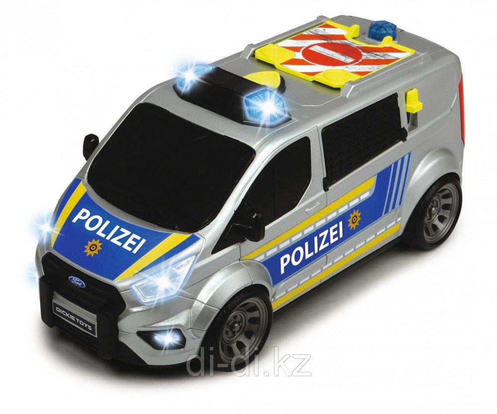 Dickie Toys Машинка полицейский минивэн Ford Transit 28 см свет звук 3715013