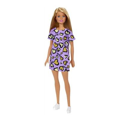"""Barbie """"Стиль"""" Кукла Барби в розовом платье с жёлтыми сердечками"""
