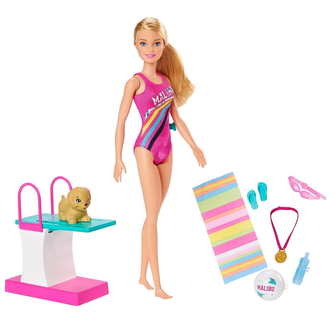 Barbie Игровой набор Чемпион по плаванию, Приключения в доме мечты Барби