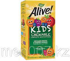 Nature's Way Alive! Мультивитамины для детей (120 жевательных таблеток)