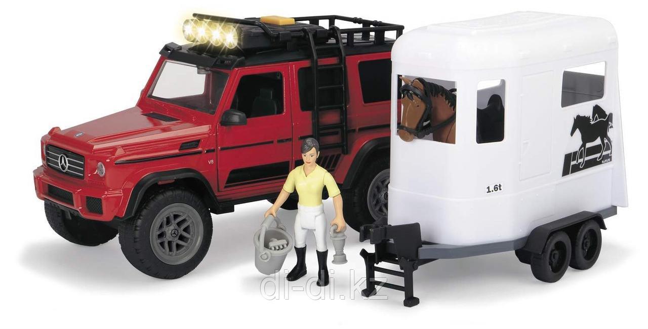 Dickie Toys Набор для перевозки лошадей MB AMG 500 4x4²  PlayLife  23 см свет звук 3838002