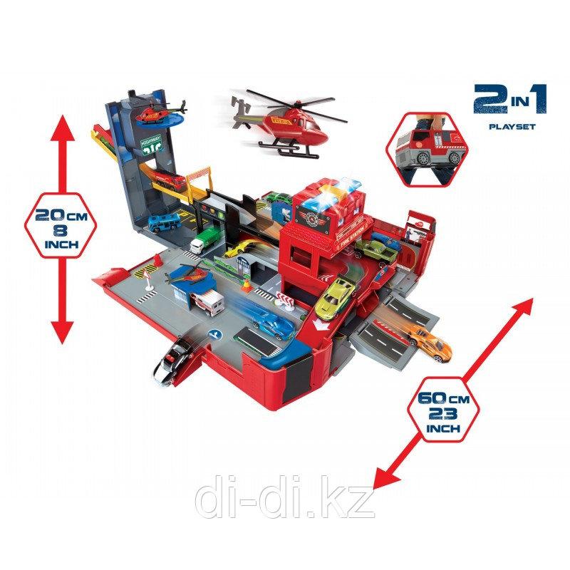 Dickie Toys Набор Складная пожарная машина, 49 см свет звук 3719005