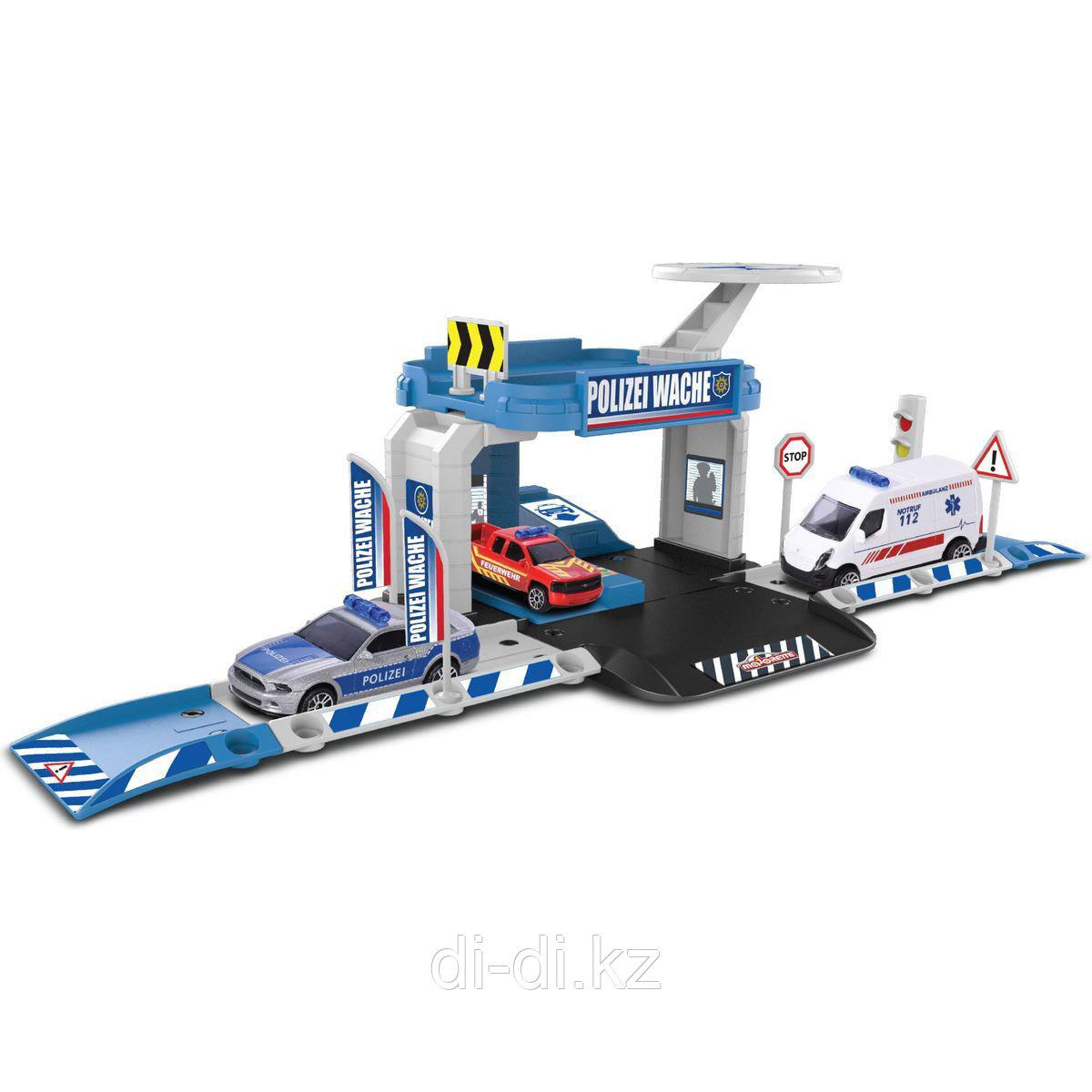 Dickie Toys Парковка базовая Creatix Полиция с машинкой Majorette 2050001