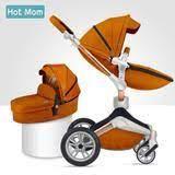Коляска Hot Mom F23 2в1 BROWN эко-кожа