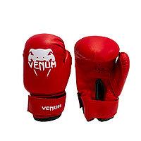 Детские перчатки для бокса 2-OZ Venum красные с рисунком