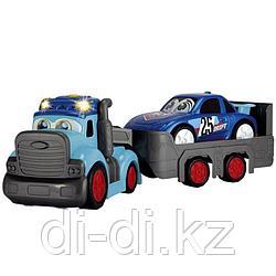 Dickie Toys Трейлер Happy с прицепом 60 см свет звук 3819011