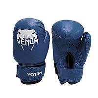 Детские перчатки для бокса 4-OZ Venum синие с рисунком