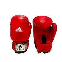 Детские перчатки для бокса красные с надписью