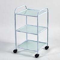 Компактный и маневренный инструментальный стол Profi Metal Glass