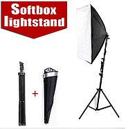 Студийный софтбокс 50см × 70см на стойке с LED лампой на 50W