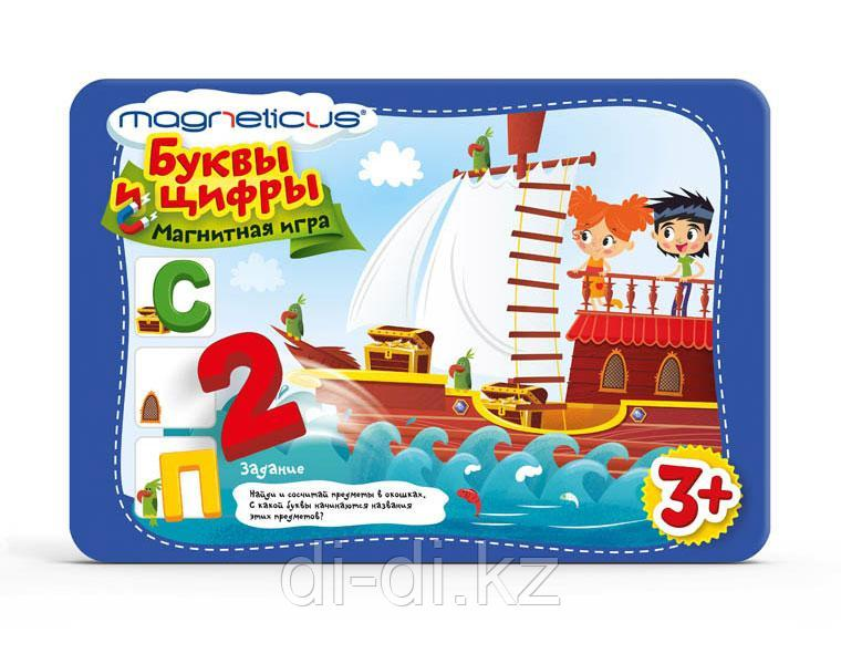 MAGNETICUS Кубики Игровой набор Буквы и Цифры в металлической коробке POL-007