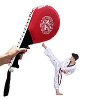 Лапа-ракетка для тхэквондо двухсторонний барабанный красная