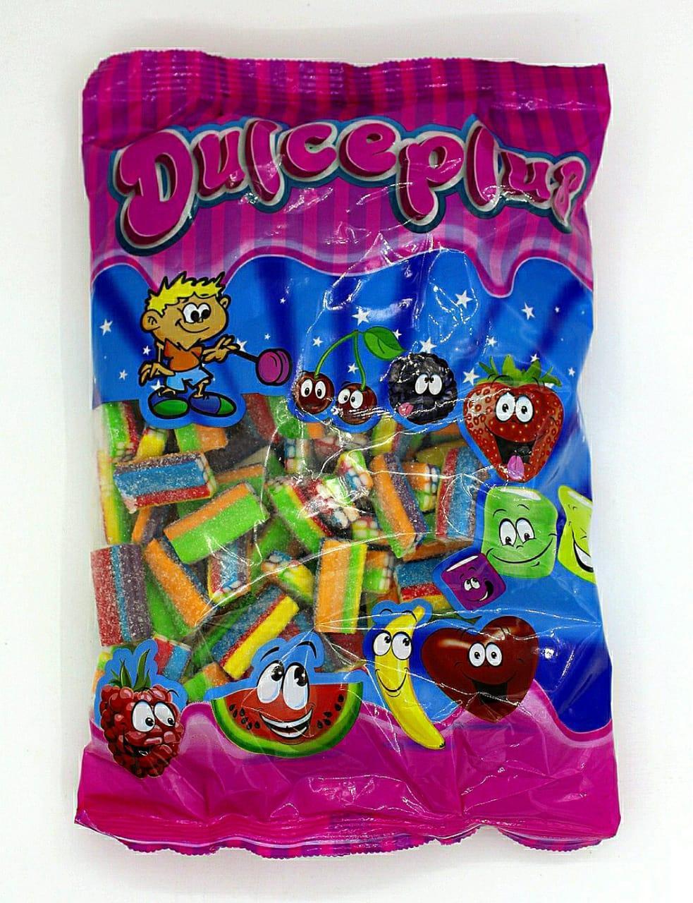 """Жевательный мармелад  """"Блоки кислые разноцветные""""  Dulceplus Испания 1 кг"""