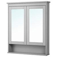 Зеркальный шкаф ХЕМНЭС серый 83x16x98 см ИКЕА, IKEA