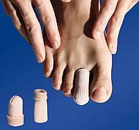 Защитные хлопковые напальчники с силиконовым слоем для пальцев стопы, 1 пара, фото 1