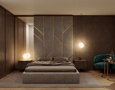 Кровать, мягкая стеновая панель BEATLES